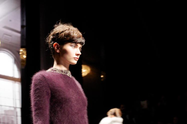 scervino oxblood angora sweater