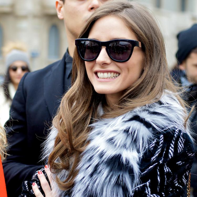 Olivia Palermo at Roberto Cavalli fashion show