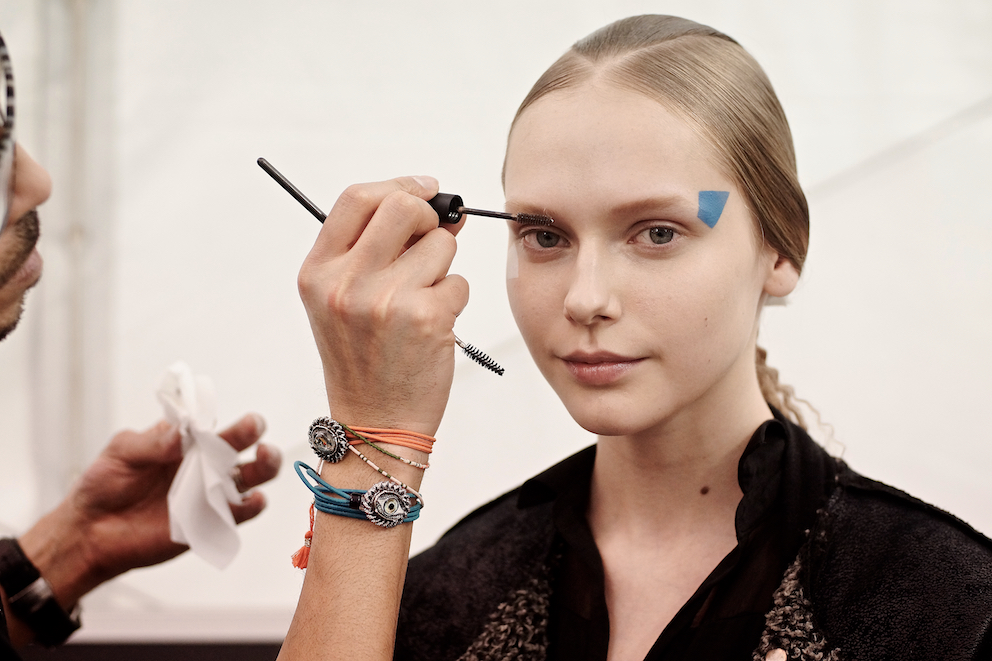 Paris Fashion Week Issey Miyake backstage makeup hair