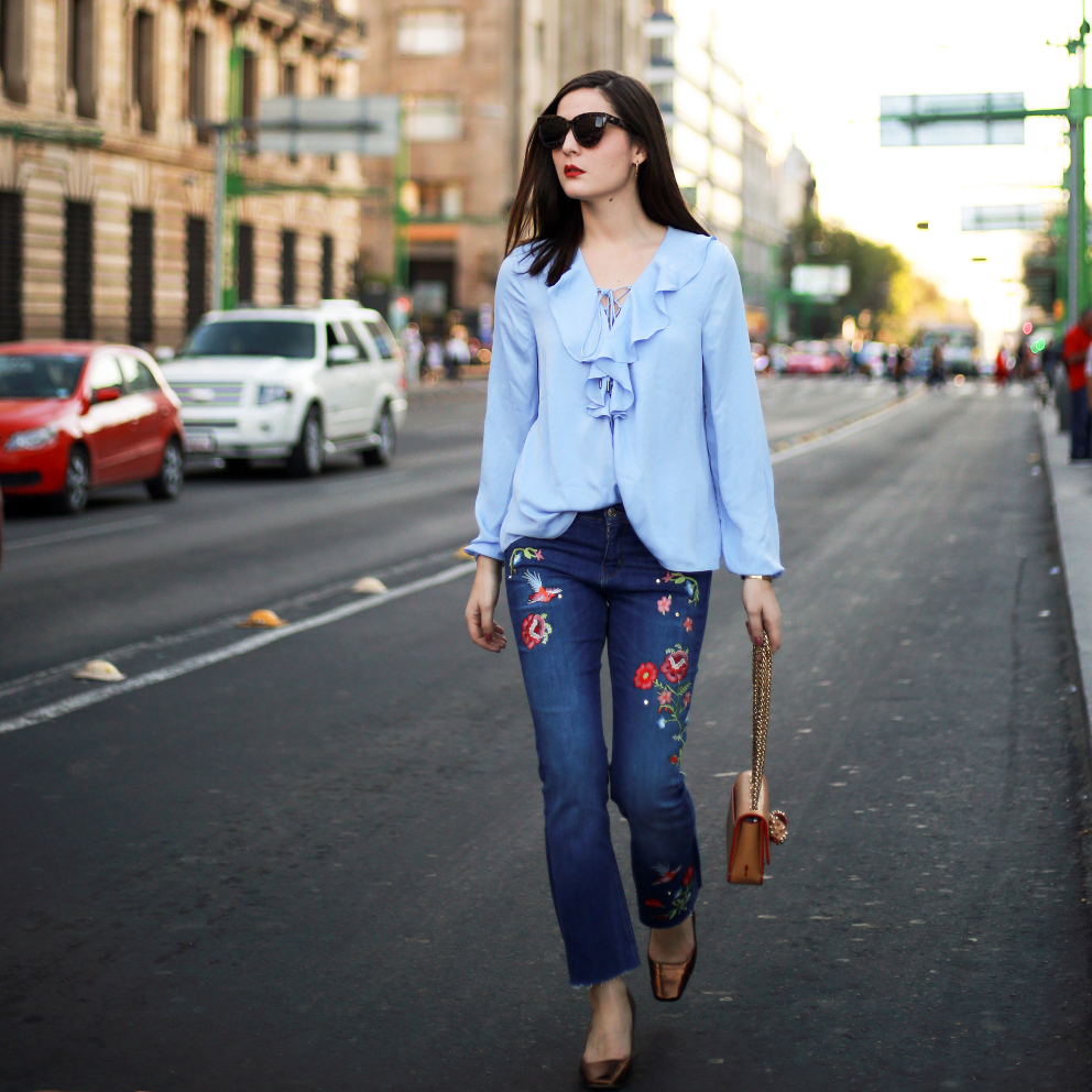 irene buffa embroidered jeans