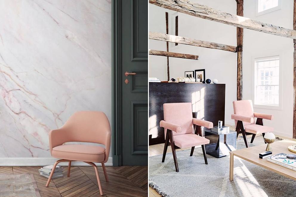 Pink interior design ideas
