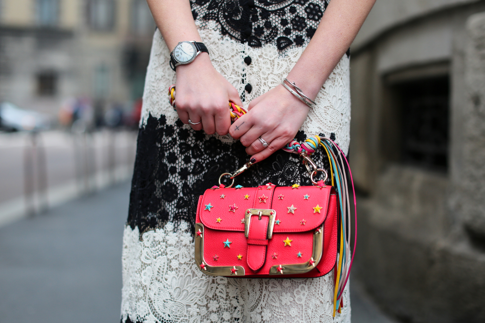 Red Valentino Dress Irene Buffa Milan Fashion Week