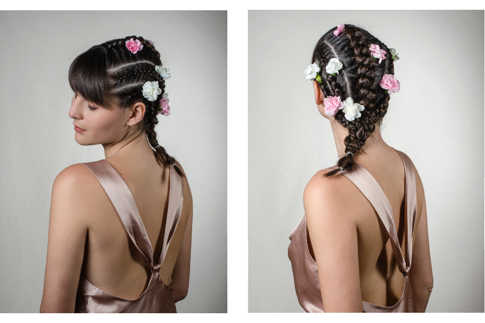 Flowers braids irene buffa hair inspiration