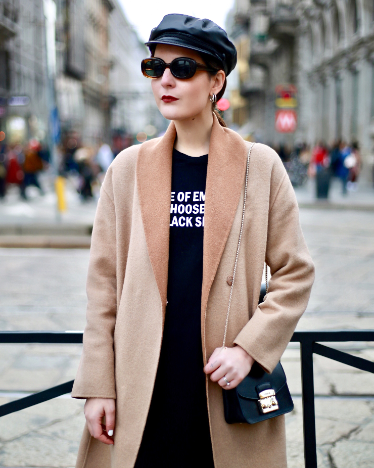 irene buffa camel coat