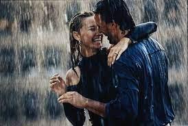Couple Rain Dance